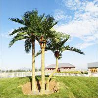 仿真椰子树 弯曲椰子树组合 玻璃钢椰子树组合应用