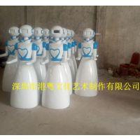 港粤现货机器人人物外壳雕塑 商业迎宾送餐机器人