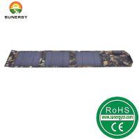 8W折叠式太阳能手机充电器户外太阳能手机充电板折叠充电包
