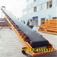 九江爬坡装卸皮带输送设备 兴亚平行式PVC食品带带式输送机