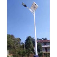 山东临沂沂南县8米50瓦LED太阳能路灯工程案例 厂家定制三年质保