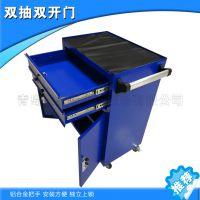 厂家生产抽屉式零件柜 坚固耐用 带锁双层板工具存放柜厂家