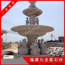 惠安石雕水钵厂家 黄锈石水钵价格 石头喷泉雕刻