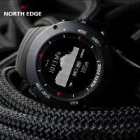 NORTH EDGE【ALTAY系列】银色户外运动手表登山天气预报气压走势图多功能表