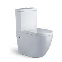 卫浴陶瓷欧洲直冲式分体大马桶座便器