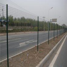 学校围墙网 厂房周围圈起来用什么 绿色铁丝网