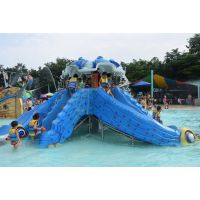 广州润乐水上乐园设备供应戏水小品-章鱼儿童滑梯