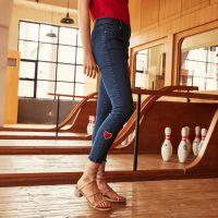 湖南哪里有便宜时尚小脚女装牛仔长裤批发库存外贸牛仔长裤批发