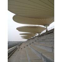 酒店屋顶膜结构休闲凉亭遮阳棚PVDF学校体育看台张拉膜
