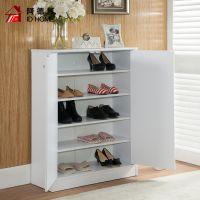 鞋柜白色 简约现代门厅柜 经济型鞋架 组装对开门鞋橱东莞家具厂