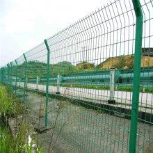 防爬带框护栏网 防锈浸塑护栏网 边框焊接网