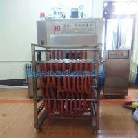 肉制品加工厂专用小型香肠加工设备,华钢牌50kg蒸汽加热香肠蒸熏炉功能,红肠熏蒸炉图片