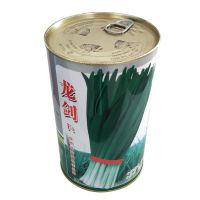 韭菜种子罐 蔬菜种子盒 圆形铁罐定制