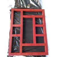 仿古木纹铝合金漏窗 中庭装饰铝漏窗厂家报价