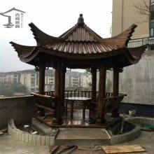 供应广州松木景观仿古六角亭,对角3米5实木六角亭子