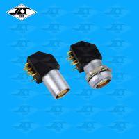 PCB印制板精密医疗设备连接器 弯头航空插座