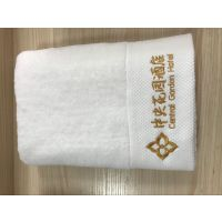 三好毛巾厂家直销缎边绣花浴巾酒店客房专用
