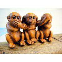 供应三不猴黄杨木摆件手把件 不说不闻不看猴子黄杨木手玩件