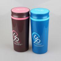 厂家直销395悠悦密封隔热杯(320ml) PP环保塑料双层水杯 随手杯 悠悦时尚隔热茶杯 礼品赠品