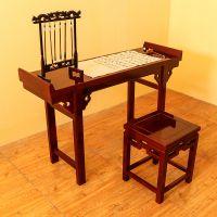 山东孔娃中式实木国学课桌椅 实木定做学习桌 厂家批发儿童桌椅