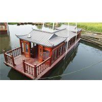 贵州云南哪里有电动画舫船 公园木质观光船 水库游览船 餐饮画舫船