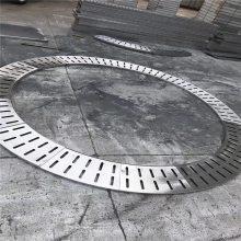 新云 直销不锈钢雨水边井排水沟盖板 不锈钢车间路边防滑格栅板
