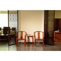 东阳红木小件销售-古典实木圈椅3件套-如金红木小件