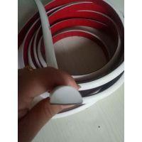 厂家定制D型密封条半圆空心红色硅胶发泡条实心条烤箱密封条