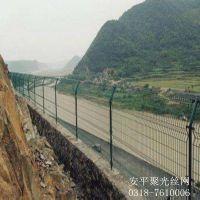 本溪供应包塑铁线交通隔离双边丝护栏@安平聚光
