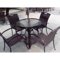苏州藤制桌椅休闲桌椅批发咖啡厅桌椅