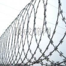 不锈钢304不生锈蛇腹式刺丝滚笼防爬网防护刺网滚刺刀片刺绳护网