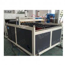陕西客户880型PVC合成树脂瓦设备 ASA仿古竹节瓦、大红瓦挤出机