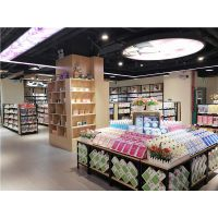 恒缘诚精品超市货架钢木结合便利店货架