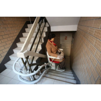 老人升降机 复式楼座椅电梯 台阶式斜挂平台启运量身定做 兴安盟石家庄市