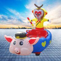 新款电动玩具车彩灯充气电瓶车户外亲子游乐玩具电动车
