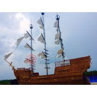 厂家直销大型海盗装饰船特色主题餐厅海盗木船景观装饰海盗餐厅船