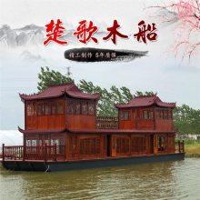 贵州16米画舫船维护保养 画舫船价格 大型画舫木船制造流程