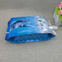 厂家订做360ML富氢水四边封铝箔包装袋 出口日本500ML水素水吸嘴自立袋