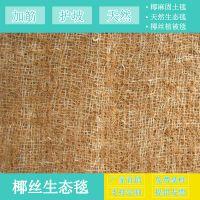新品椰丝生态毯上市 pp网椰纤维毯 加筋椰丝毯 边坡防护环保草毯山东