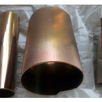 贵阳201玫瑰金不锈钢圆管 彩色加工 镀钛加工