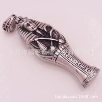 埃及法老图坦卡蒙盒子吊坠大号不锈钢纯钛仿古木乃伊项链首饰工厂