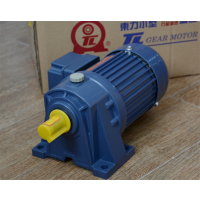 厦门东历电机PL18-0100-10C单相异步电动机4级卧式齿轮减速电机YS100W-4P
