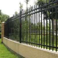 钿汇鑫筛网主营产品小区锌钢防护栏铁艺护栏1.5*3米黑色厂区隔离栅栏