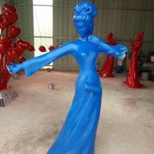 玻璃钢吹笛子歌姬舞女人物雕像拉二胡唐朝美女塑像树脂彩绘仿真古代女子弹琵琶铸铜公园园林装饰摆件