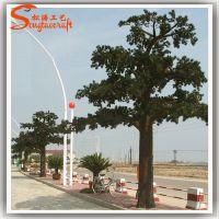 仿真松树枝 仿真松树价格 定做假树 水泥材质玻璃钢材质人造树