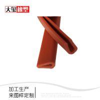 厂家供应硅胶密封条U型耐高温硅橡胶条加工定制