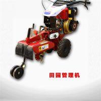 柴油动力多缸四轮拖拉机 大型回填批发挖沟机 果园电启动旋耕机
