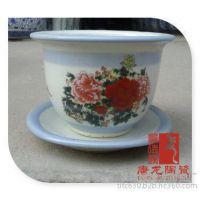 千火陶瓷 景德镇陶瓷大缸 种铁树种花花缸