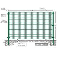 铁网围栏厂家批发 绿色铁丝网围墙多钱一米祥筑丝网厂