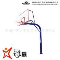 源头厂家 可定制 地埋圆管篮球架 固定式 篮球架 配SMC篮板 钢化玻璃